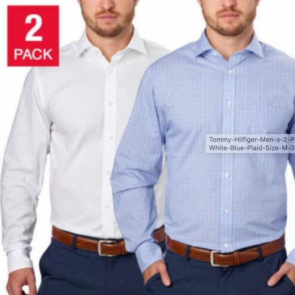 Tommy Hilfiger Other - Tommy Hilfiger Men's 2-Pack Dress Shirt, White/Blu
